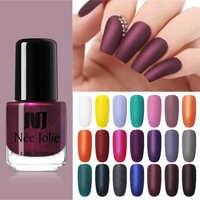 NEE JOLIE Matte Nail Polish Purple Pink Pure Nail Color Nail Art Oily Polish Matting Effect Manicure 3.5ml Nail Polish