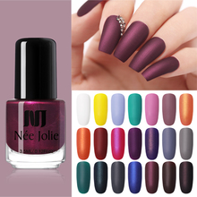 NEE JOLIE Matte Nail Polish Purple Pink Pure Color Art Oily Matting Effect Manicure 3.5ml
