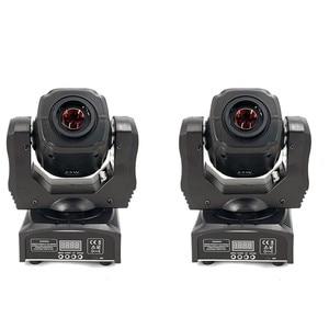 Image 1 - 2 قطعة LED بقعة 60 واط تتحرك رئيس ضوء Gobo/نمط دوران التركيز اليدوي مع تحكم DMX ل العارض Dj ديسكو المرحلة الإضاءة