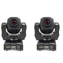 2 pces led ponto 60w luz cabeça movente gobo/padrão de rotação foco manual com controlador dmx para projetor dj discoteca iluminação palco
