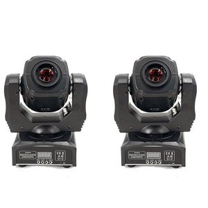 Image 1 - 2pcs LED Spot 60W Moving Head Light Gobo/Pattern Rotation Manual Focus With DMX Controller For Projector Dj Disco Stage Lighting