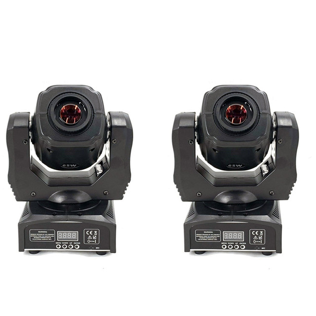 2pcs LED Spot 60W Moving Head Light Gobo/Pattern Rotation Manual Focus With DMX Controller For Projector Dj Disco Stage Lighting