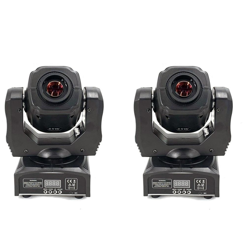 2pcs LED Spot Moving Head Light/USA Luminums 65W LED DJ Spot Light 60W Gobo Moving Heads Lights Super Bright LED DJ Disco Light