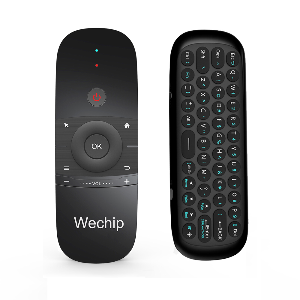 Wechip W1 Mini 2.4G Wireless Keyboard Air Mouse USB Remote for Android TV BOX PC