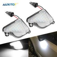 AUXITO 2 uds 6000K blanco LED bajo luz de espejo lateral charco lámpara para Skoda Superb 2 2008-2019 Octavia Mk3 5E Octavia (1Z) fase