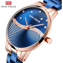 MINIFOCUS Simple Creative Women Watches Waterproof Blue Stainless Steel Strap Brand Luxury Fashion Casual Ladys Watch Reloj Mujer Relogio Feminino Montre Femme Wristwatches Girl стоимость