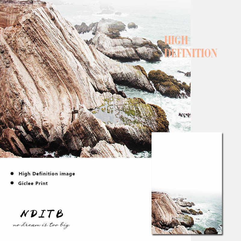 스칸디 나비아 자연 풍경 포스터 북유럽 장식 캔버스 아트 인쇄 해안 다리 벽 그림 그림 현대 홈 장식