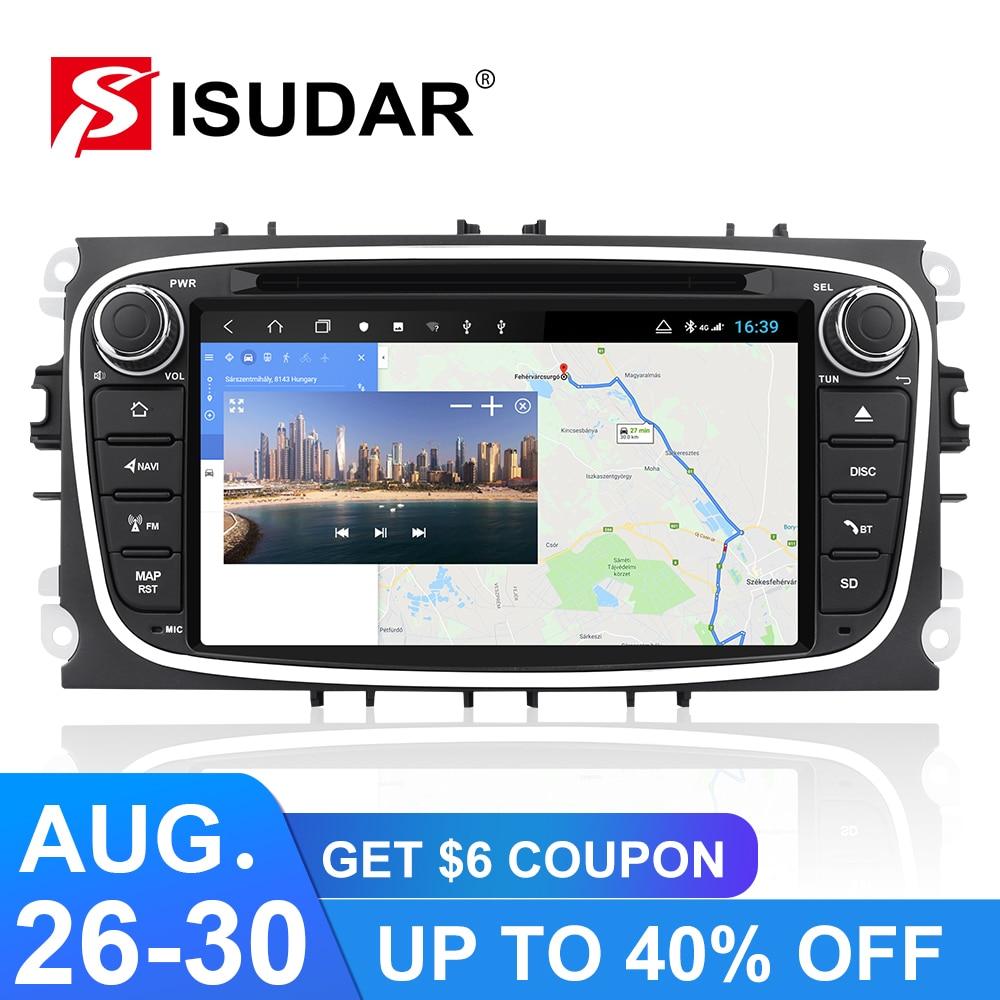 Image 2 - Isudar H53 Android 2 Din Авторадио для FORD/Focus/Mondeo/S MAX/C MAX/Galaxy Автомобильный мультимедийный плеер GPS 8 ядер RAM 4G 64GB DSP DVRМультимедиаплеер для авто    АлиЭкспресс
