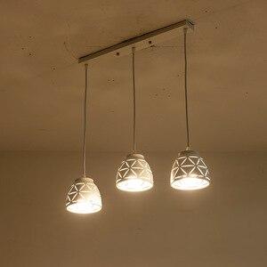 Image 5 - Nowa lampa wisząca Led jadalnia nowoczesna E27 wisiorek oświetlenie do sypialni kawiarnia lampy wiszące Nordic żelaza abażur oświetlenie kuchni