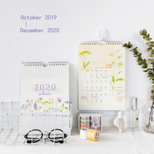 купить wall Calendar New Year 2020 Fresh Creative Flowers Hand-painted Calendar Simple Hanging Desk Calendar по цене 499.43 рублей
