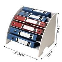 DIY Document Tray Desktop Multifunction Storage Box Pen Pencil File Holder Office Desk Organizer Supplies
