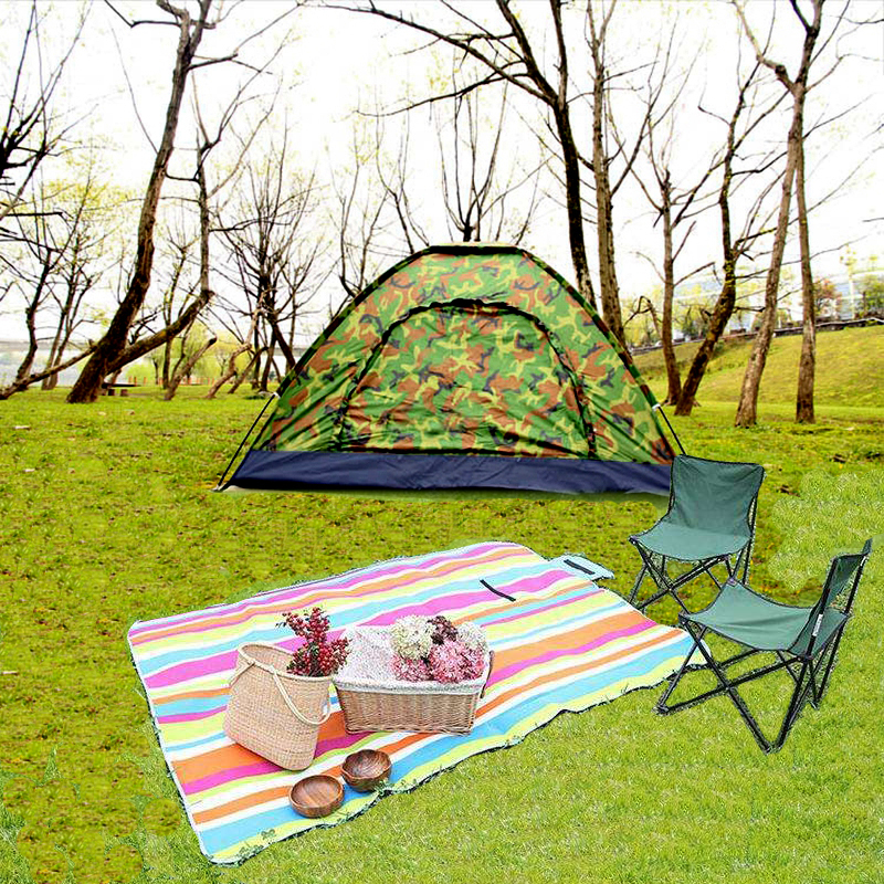 Waterproof Open Tents Outdoor Luxury 210t Polyester Family Camping Tent For 2 Persons Double Layer Free shipping