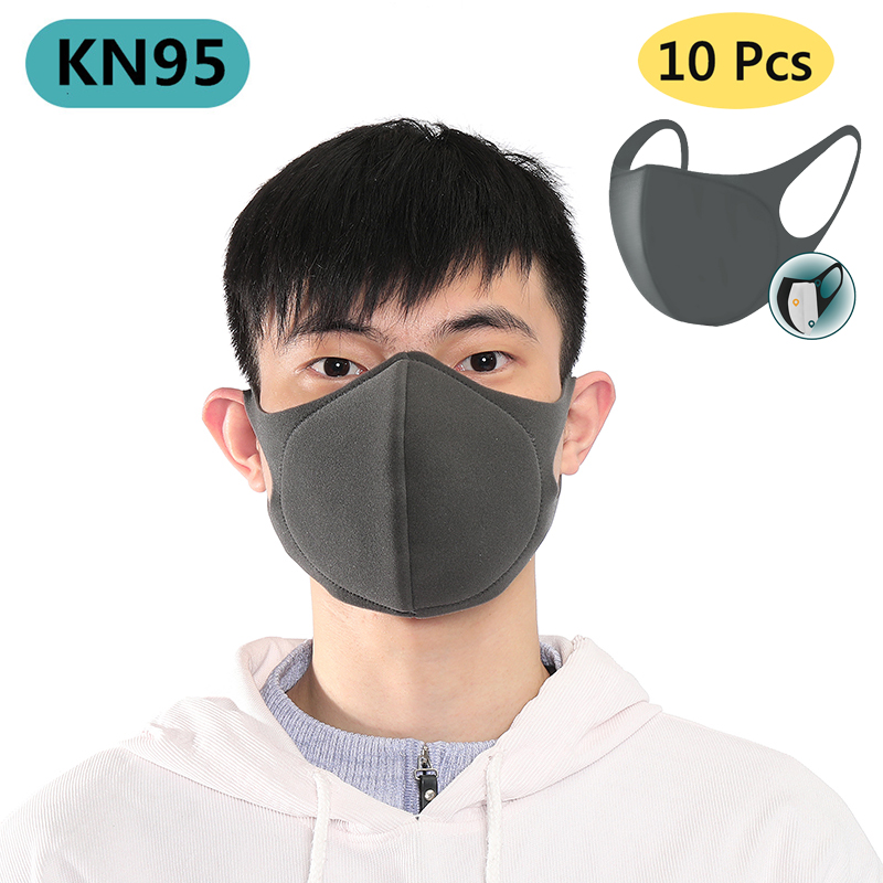 100PCS KN95 Face Mask Respirator for Kids Adult Prevent Haze Reusable Mouth Dust Masks with Disposable Prevention Filter Pad