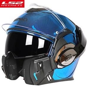 Image 3 - LS2 FF399 Lật Lên Moto Rcycle Mũ Bảo Hiểm Con Người Mô Đun Moto Chéo Đua Capacete LS2 Mũ Bảo Hiểm Casco Moto Capacete De Moto cicle ECE