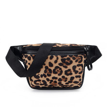 2020 New Fashion Retro PU Leopard Print Waist Bag Large Capacity Single Shoulder Diagonal Small Bag Mobile Phone Change Pocket