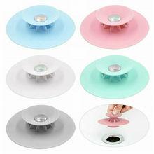 Пресс тип силиконовые фильтры для раковины волос прочный кухня ванная комната анти-засорение Раковина фильтр