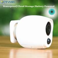 CTVMAN 1080P ICSEE كاميرا بطارية خارجية واي فاي في الهواء الطلق كاميرا IP بطارية تعمل بالطاقة كاميرا لا سلكية اتجاهين الصوت المراقبة