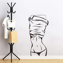 Monochrome sexy girl silhouette wall sticker living room bedroom ornament movie poster modern art mural home decoration