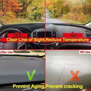 Image 3 - 포드 머스탱 6 세대 2015 2016 2017 2018 2019  On LHD RHD 2 레이어 자동차 대시 보드 커버 카펫 케이프 러그 패드 Sun Shade Protect