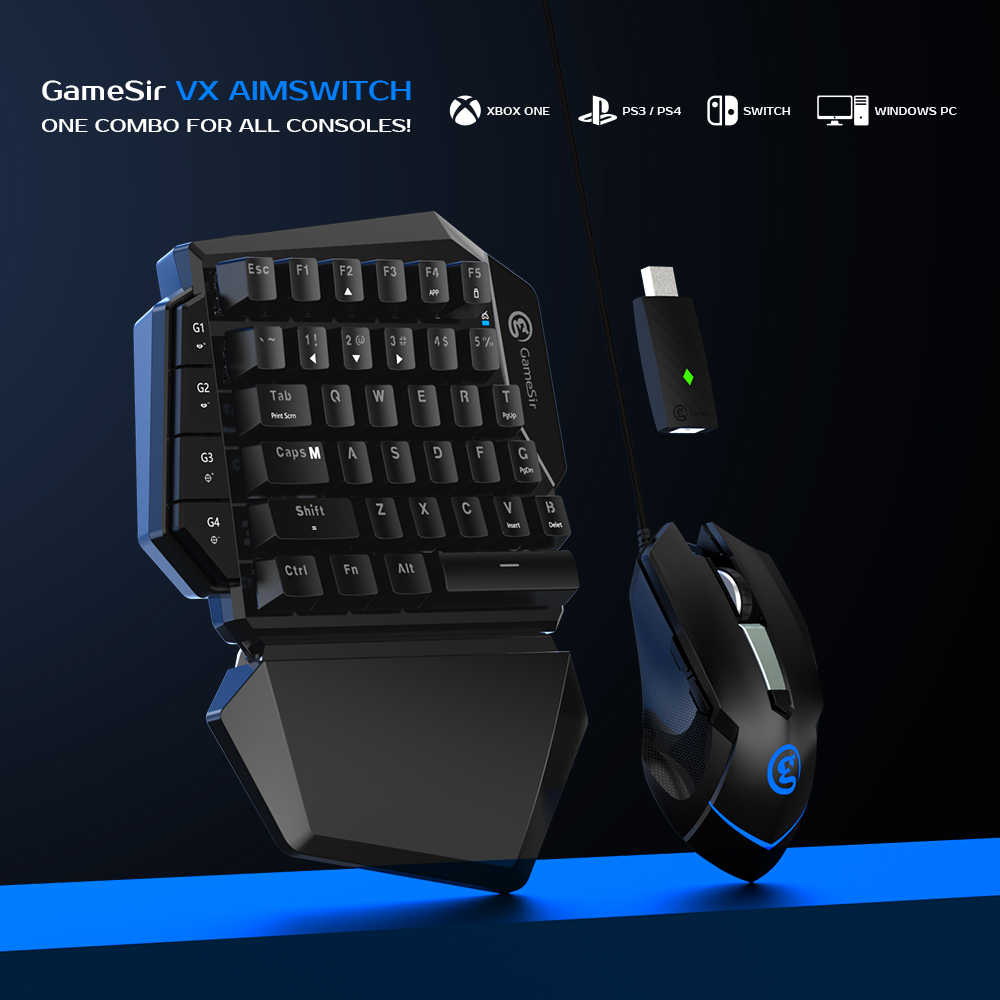 Gamesir Vx Aimswitch Keyboard And Mouse Adapter For Xbox One Ps4 Ps3 Nintendo Switch For Pubg Call Of Duty Aliexpress