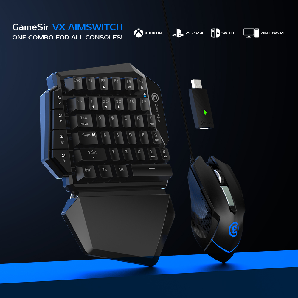 GameSir VX AimSwitch Keyboard Mouse Adapter for Xbox One/ Xbox One S/ Xbox One X/ PS4/ PS4 Slim/ PS4 Pro/ Nintendo Switch/ PS3|Gamepads| - AliExpress