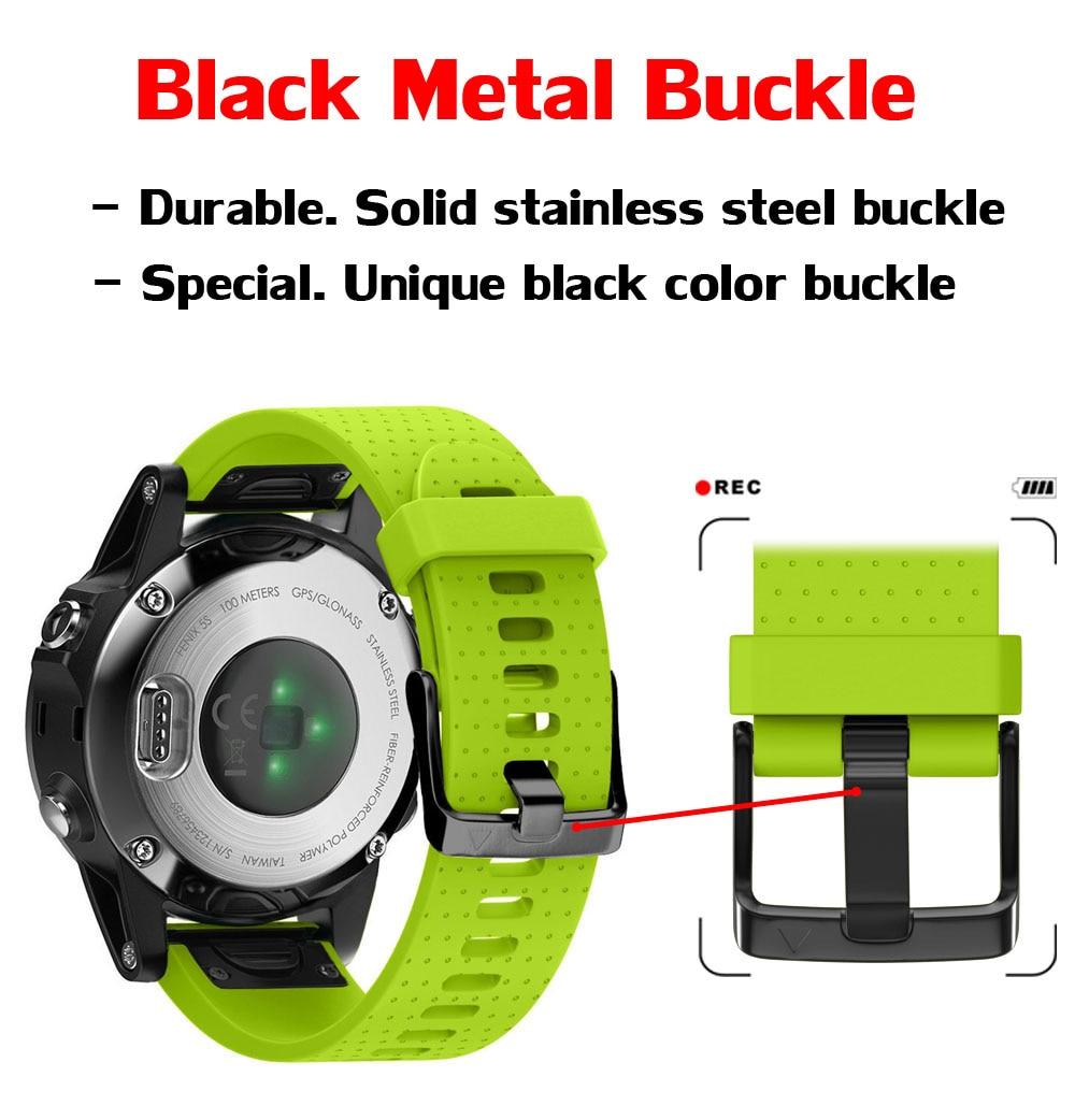 Correa de silicona de 20 mm de ancho para correa de reloj Garmin - Accesorios para relojes - foto 3