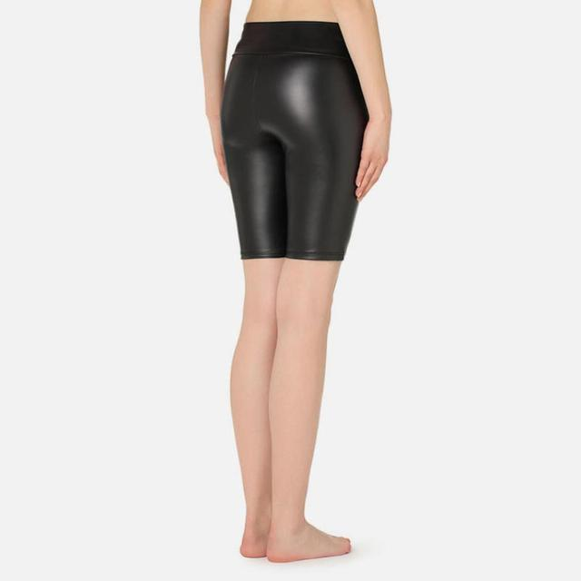 NORMOV Shorts Pu High Waist Sexy Summer Fashion Pu Leather Shorts Push Up Womens Female Elastic Skinny Solid Color Legging 5