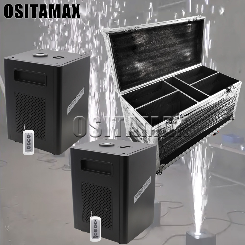 Free Shipping 2pcs/lot 400W Remote/DMX Control Cold Spark Fireworks Sparklers Machine Out/Indoor Wedding Celebration Party