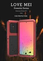 Funda para Samsung Galaxy A71 4G 5G, carcasa resistente al agua, a prueba de golpes y suciedad, armadura de Metal, para Samsung A51 A41