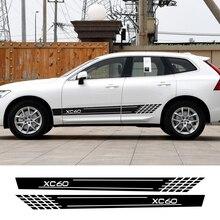 Stücke Auto Seite Streifen Aufkleber Personalisierte Auto Sport Styling Aufkleber Dekoration Für Volvo XC40 XC60 XC90 Tuning Auto Zubehör