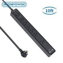 Nton силовой настенный сетевой протектор us power strip черный