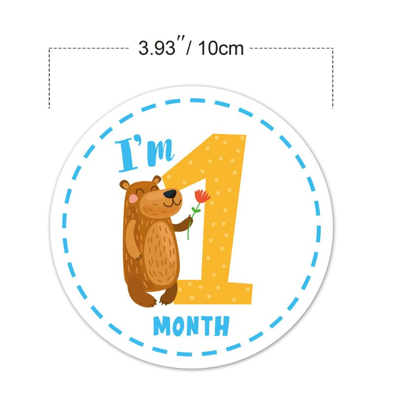 Baby Monthly Sticker Baby Belly Stickers Milestone Monthly Age Sticker Scrapbook Memory Registry Gift Unisex Hot