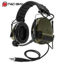 TAC-SKY COMTAC III New Detachable Headband Silicone Earmuffs Military Noise Reduction Tactical Headphones peltor comtac iii FG