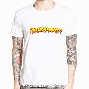 Hulk Hogan Hulkamania koszulka męska zapasy klasyczne dorosłych modalne człowiek t-shirty śmieszne topy Tee Casual O Neck tshirt topy Tees