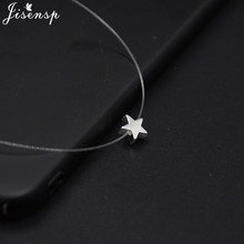 Rhinestone Choker Necklaces Invisible-Chain Fishing-Line Wedding-Gift Transparent Collier