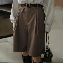 Ladies Shorts Women' Pockets Work-Bottoms Office Casual Plus-Size 5XL Straight Zipper