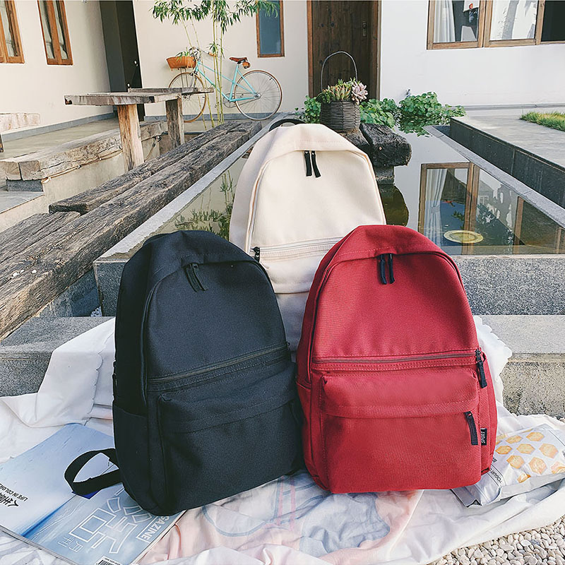 New Casual School Backpack Waterproof Bagpack Black Red Backbag Nylon College School Bags For Girls Boy Mochila Escolar 2020