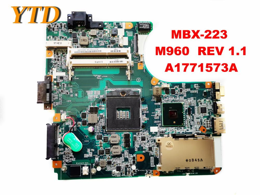 Original For SONY MBX-223  Laptop Motherboard MBX-223  M960  REV 1.1  A1771573A   Tested Good Free Shipping
