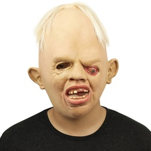 Hot Sale Breathable Creepy Full Face Head Mask Bad Boy Style Latex Halloween Fancy Dress Party Role Play CM