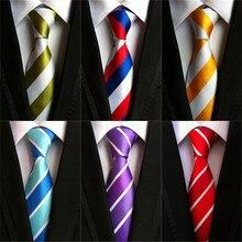 Бренд cityraider Cravate мужской галстук-бабочка 8 см Классический Полосатый Свадебный галстук для жениха Мужские галстуки тонкие шелковые галстуки LD041
