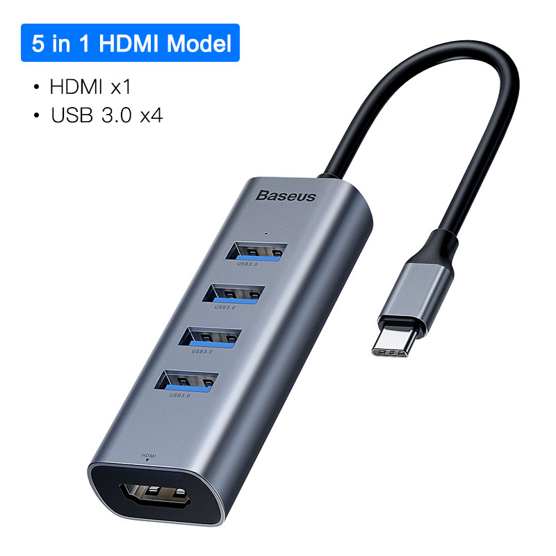 5 in 1 HDMI USB HUB
