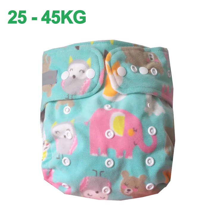 XL SIZE Older Children Waterproof  Cloth Diaper Reusable Washable  Nappies Baby Cover Size Ajustable Pocket Diapers 25-45KG
