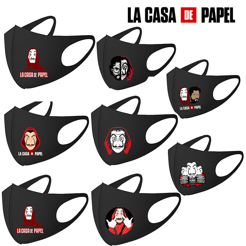 Salvador Dali Masks Movie The House Of Paper La Casa De Papel Cosplay Costume Accessories Washable Reusable Face Masks Toys