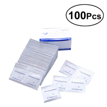 100 Pcs Alcohol Pads Swab Wipe Antiseptic Skin Cleaning Care Antibacterial Clean cuidado deprimeros auxilios