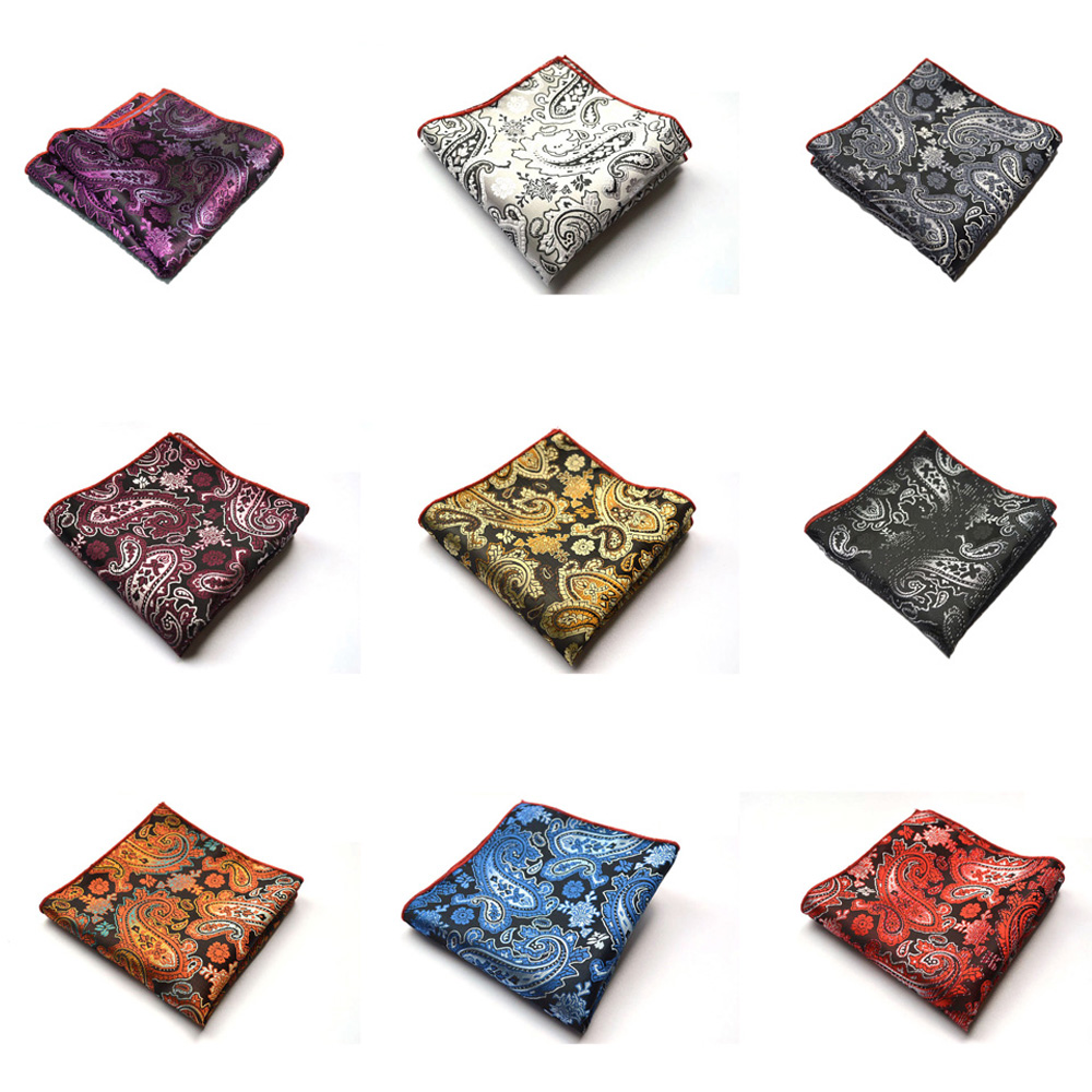 Men Classic Paisley Flower Wedding Party Handkerchief Pocket Square Hanky