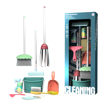 12Pcs/set Children Pretend Play Simulation Mini Cleaning Tool Furniture Toys Gift For over 3 years old