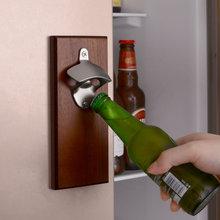 Abridor de botellas Vintage de alta calidad, tapa de cristal montada en la pared, abridor para cerveza y vino, herramienta para Bar, accesorios para beber, decoración del hogar
