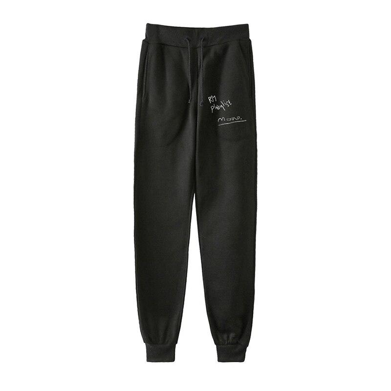 Fashion Hip Hop Kpop RM Mono Playlist Harem Pants Sport Men Women Spring Autumn Casual Unisex Long Loose Pant Trousers Plus Size