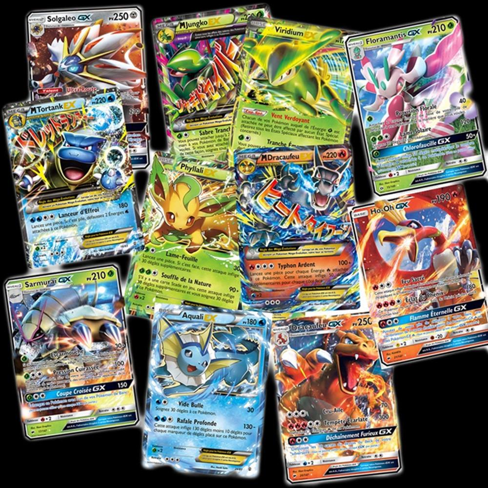 200 Pcs GX MEGA Shining Cards Game Battle Carte 100pcs Trading Children Toy