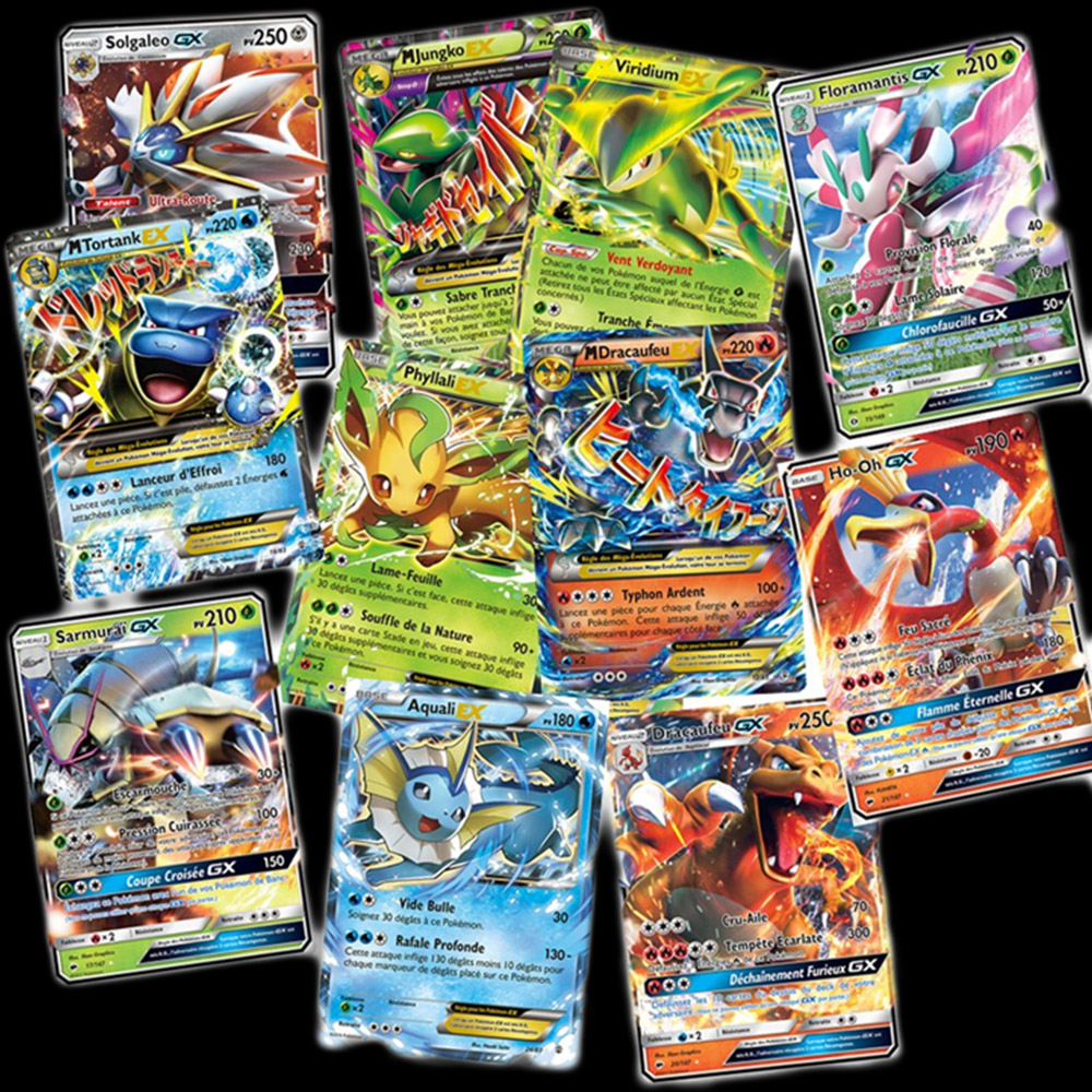 new-tomy-100pcs-french-font-b-pokemon-b-font-card-featuring-60-gx-20-ex-20-mega-trading-cards-game-children-toy